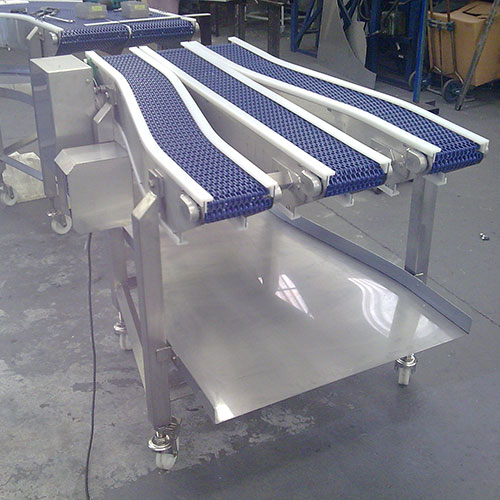 Curverd link belt conveyor