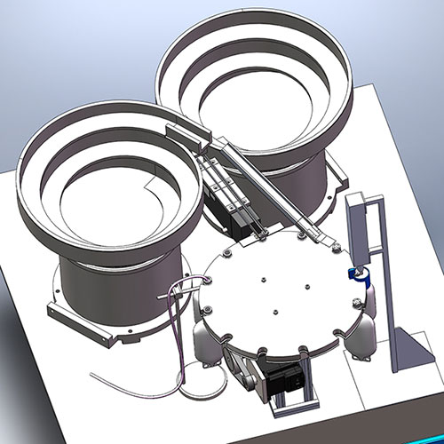 bowl feeder botteling CAD